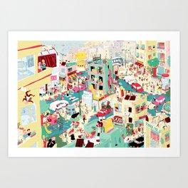 Ungeheuerlich Tel-Aviv Art Print