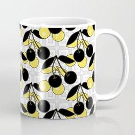 Black and yellow pattern . Cherry . Coffee Mug