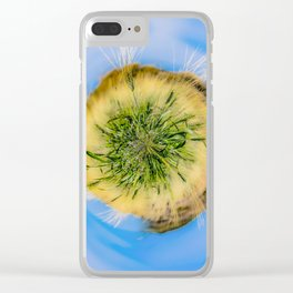 Green wheat - tiny planet Clear iPhone Case
