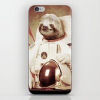 astronaut iPhone & iPod Skins featuring Sloth Astronaut by Bakus