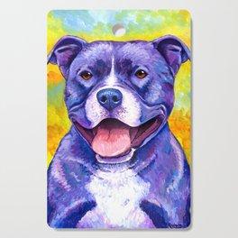 Colorful American Pitbull Terrier Dog Cutting Board