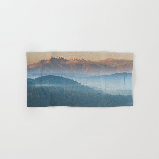 The mountains are calling #sunset Hand & Bath Towel