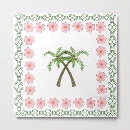 A Pair of Palm Trees   Metal Print
