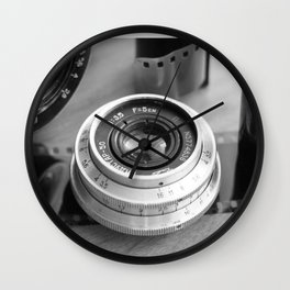Accessories from old film cameras. Wall Clock
