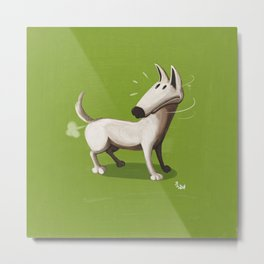 Farting Dog Metal Print