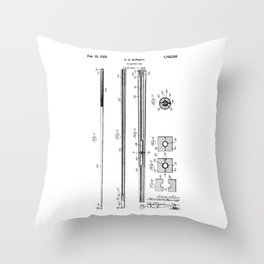patent art Barret Billiard cue 1929 Throw Pillow