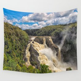 Magnificent Barron Falls in Queensland Wall Tapestry