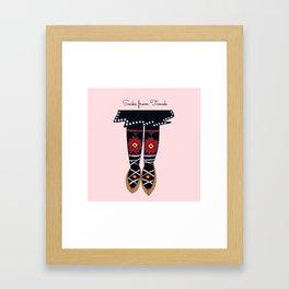 Socks from Timok, Serbia Framed Art Print