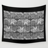 cows Wall Tapestries featuring cows 2 by Stefan Stettner