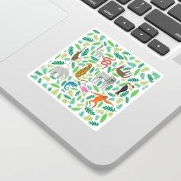 Animals in the Jungle Sticker