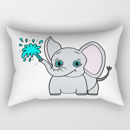 Lovely and funny elephant drawing Rectangular Pillow