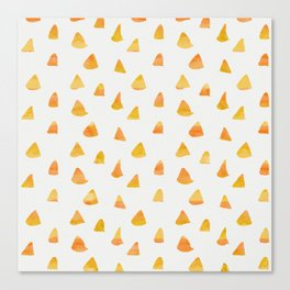 Geometrical orange yellow watercolor hand painted triangles Canvas Print