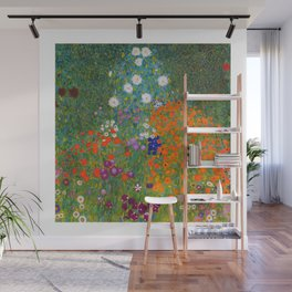 Flower Garden Bauerngarten Klimt Garden Floral Oil Painting Wall Mural