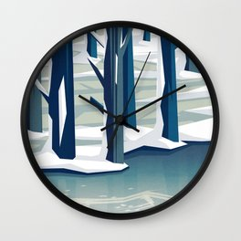 Spring was coming Wall Clock