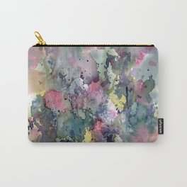 Impressionistic Watercolor of Sweet Peas Carry-All Pouch
