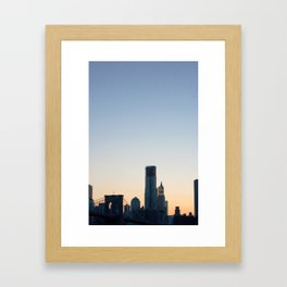 Glowing Framed Art Print