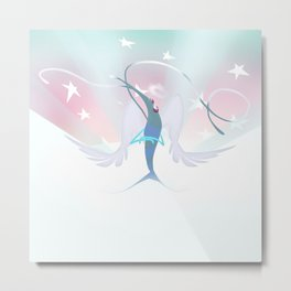 Heavenly Prawn Metal Print