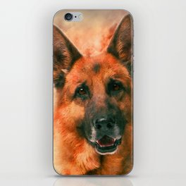 German Shepherd Dog GSD -  Watercolor iPhone Skin