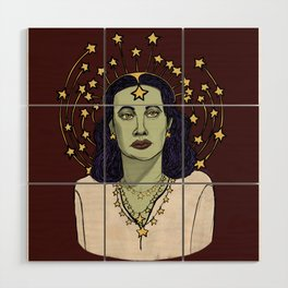 Star Goddess Wood Wall Art