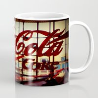 coca cola Mugs featuring Trink Coca~Cola by AuFish92024