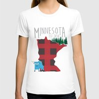 minnesota T-shirts featuring Minnesota Lumberjack by Sara Hynes Designs