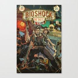 Bioshock Infinite: Vintage Comic Cover Canvas Print
