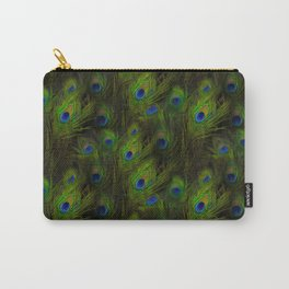 Peacock Feather Plummage Carry-All Pouch