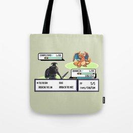 Dovahkiin vs Charizard Tote Bag