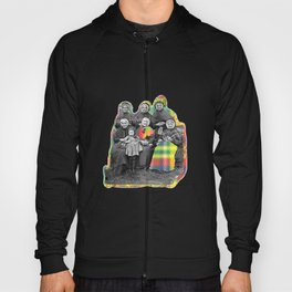 THE SIX GRANDMOTHERS IN PIXELATED PLAID Hoody