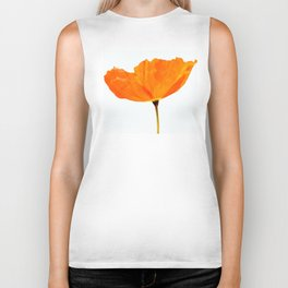One And Only - Orange Poppy White Background #decor #society6#buyart Biker Tank