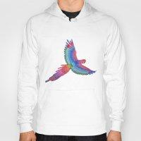 parrot Hoodies featuring Parrot by Luna Portnoi