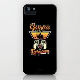 Gamer Respawn Horror Halloween iPhone Case