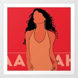 Aaliyah Poster.Print Art Print