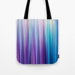 Abstract Purple and Teal Gradient Stripes Pattern Tote Bag