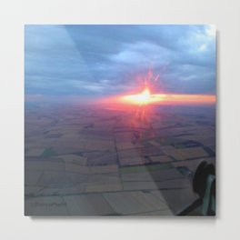 Flying at Sunset (Full Sutton) Metal Print
