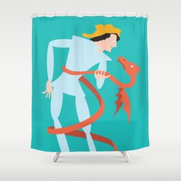 Dragonboy, green Shower Curtain