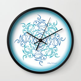 Namaste Mandala Glow - Blue White Wall Clock