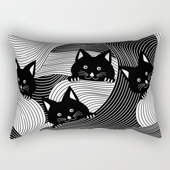 Hidden Kitties Rectangular Pillow