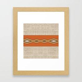 Southwestern Earth Tone Texture Design Framed Art Print