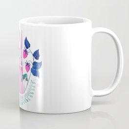 pink rabbit watercolor illustration Coffee Mug