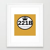 221b Framed Art Prints featuring 221B by Lugonbe