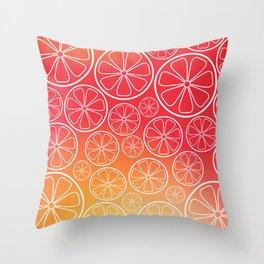 Citrus slices (red/orange) Throw Pillow
