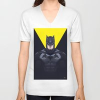 bat man V-neck T-shirts featuring Bat man by Muito