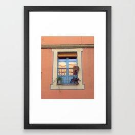 Spanish Window Framed Art Print