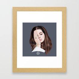 """Trust no One"" LanadelRey Framed Art Print"