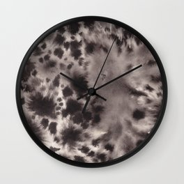 Black and White Tie Dye Ink Wash Wall Clock