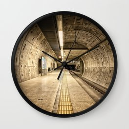Subway Metro Trains Cologne in Germany Wall Clock