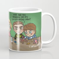 cyrilliart Mugs featuring Festive Baking by Cyrilliart