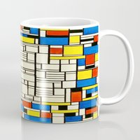 mondrian Mugs featuring Mondrian by PureVintageLove