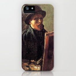 Self-Portrait with Dark Felt Hat at the Easel by Vincent van Gogh iPhone Case